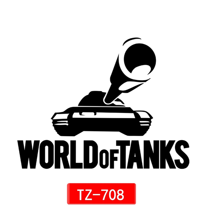 Three Ratels TZ-708 15*19.5cm 1-5 Pieces World Of Tanks WOT Car Sticker Auto Sticker Car Stickers Removable