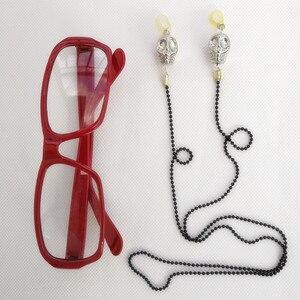 Image 5 - บัตเลอร์สีดำ Kuroshitsuji Grell Sutcliff สีแดงยาวตรงทนความร้อนผมคอสเพลย์วิกผม + Skull Chain แว่นตา