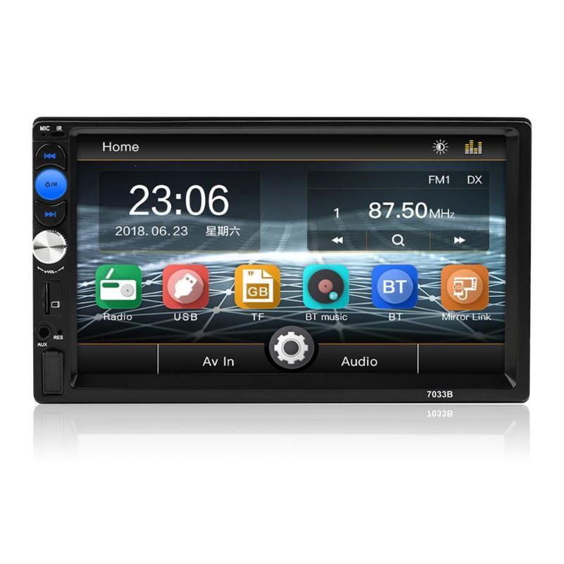 7 pouces 2DIN dans le tableau de bord Bluetooth voiture stéréo MP5 lecteur USB FM Radio Autoradio Automovil vidéo Audio lecteur avec télécommande