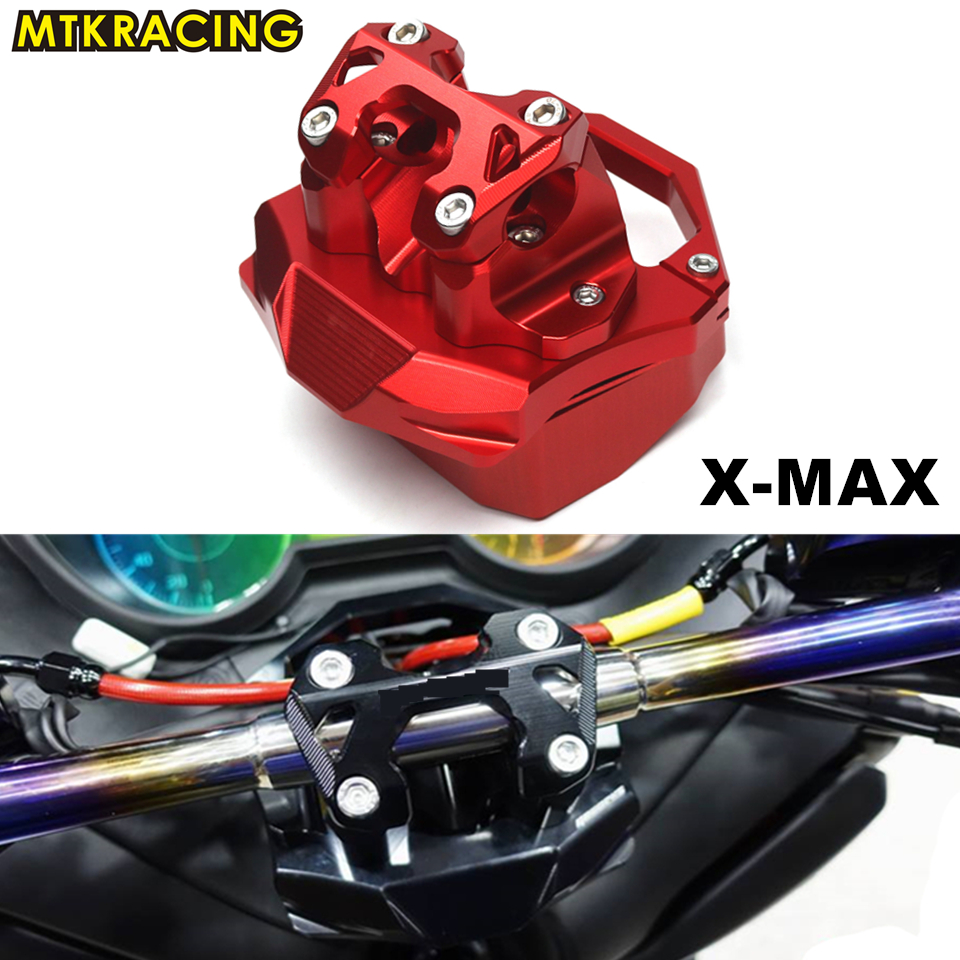 все цены на MTKRACING free shipping X-MAX new KIT RISER POUR GUIDON for YAMAHA X-MAX XMAX 250 300 2017-2018 Motorcycle Accessories 5 colors онлайн