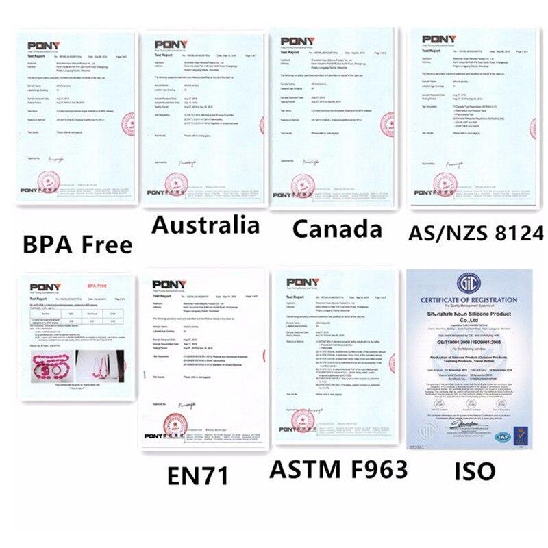 Купить с кэшбэком Chenkai 10PCS BPA Free Food Grade Silicone Ice Cream Teether Chewable Pacifier Pendant For Infant Nursing Necklace Accessories