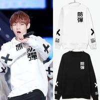 K POP Sweatshirts KPOP BTS Brand Men Hoodie 2016 Bangtan Boys BTS Bulletproof KPOP BTS Bangtan