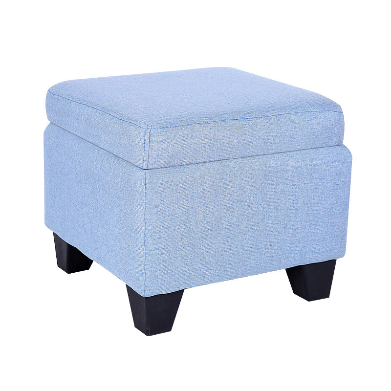 Multifunctional Storage Box Washable Bench Cube Linen Storage Stool Home Office Foot Stool Chair Wooden Furniture Home Decor