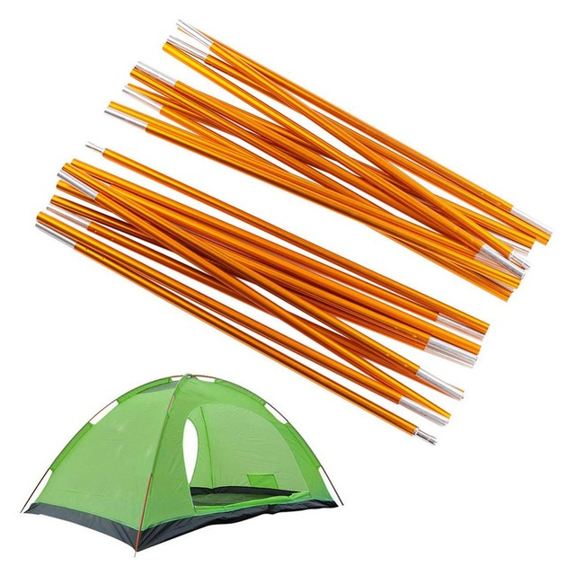 2pcs/lot 7.9mm Tent Poles Aluminum Alloy Camping Tent Rods Support Frame Bars Outdoor Camping Hiking Awning Tent Accessories