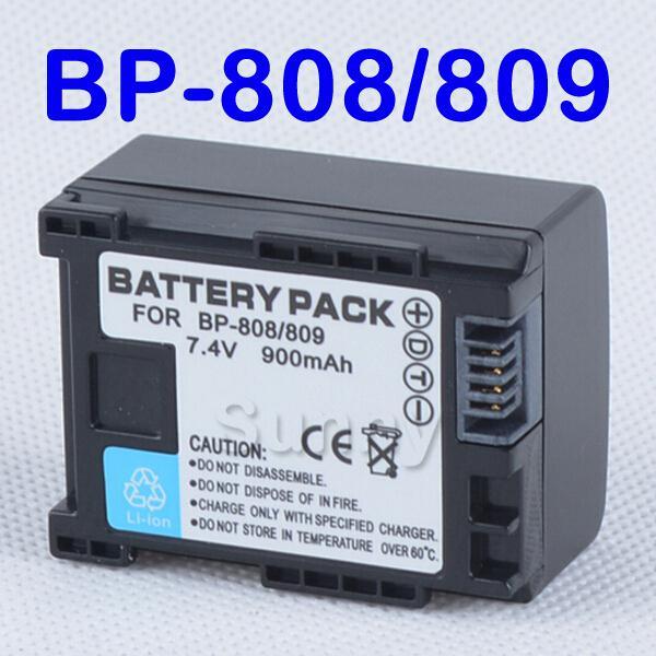 BP 808 Battery Pack for Canon FS10, FS11, FS20, FS21, FS22, FS30, FS31, FS40, FS100, FS200, FS300, FS400 Flash Memory Camcorder