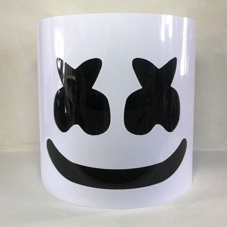 Autorisation officielle DJ filé sucre véritable casque cosplay Marshmello lumières éblouissantes laissez votre haut pr Donight le plus joli