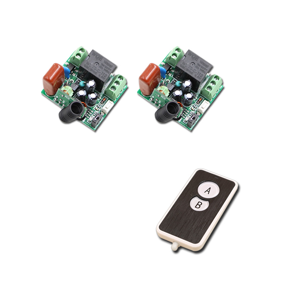 AC 220V 1CH 10A Mini Relay Receiver Wireless Remote Control Switch RF Switch System Transmitter + 2 Receivers 315mhz/433.92mhz 2 receivers 60 buzzers wireless restaurant buzzer caller table call calling button waiter pager system