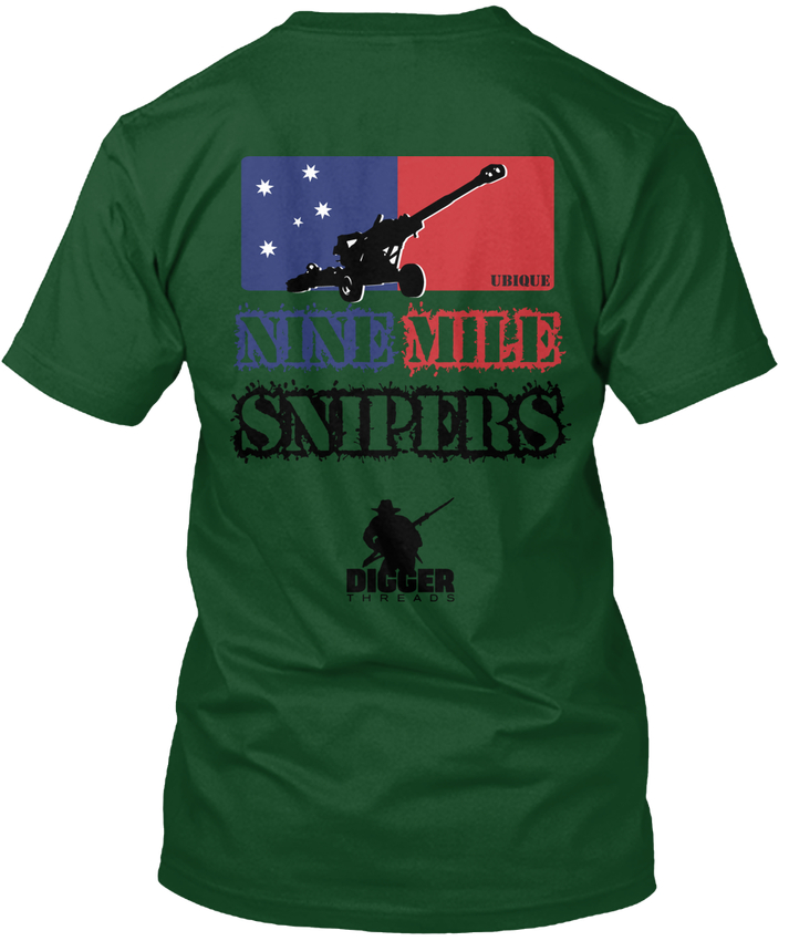 Девять миля снайперы-ubique digger нитей Ханс tagless футболка ...