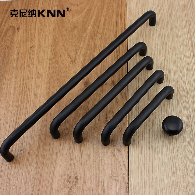 Aluminum Alloy Handle Black Minimalist Nordic Cabinet Handle Wardrobe Door  Drawer Handle Modern American Door Handle