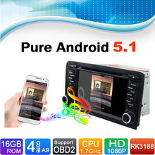 Android 5.1 System, 16 GB Flash, 4 Core, HD 1024X600,  Autoradio Car DVD Player for Audi A3(2003-2012)