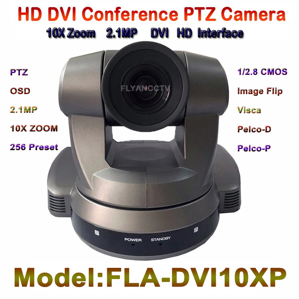 FLA-DVI10XP  1080P Video Conference Camera, HD DVI 10x Optical Zoom, HDMI Video Meeting PTZ Camera, Support Image Flip Function dannovo sony 20x zoom 1080p ptz video conference room camera support hd sdi hdmi ypbpr av video output visca pelco rs232 rs485