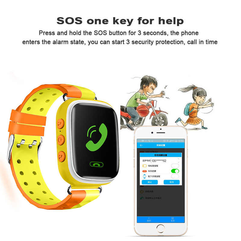 Q90 Q80 PKQ60 Q730 Q750 V7K A6 GPS Phone Positioning Fashion Children Watch 1.22 Inch Color Touch Screen SOS Smart Watch