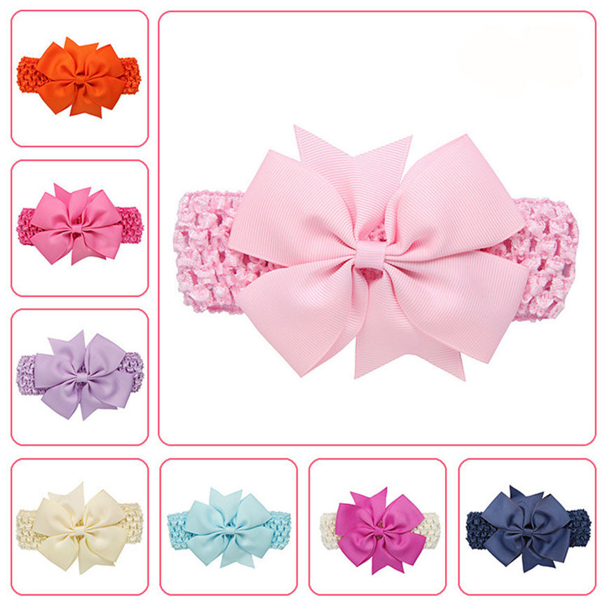 2018 Hairband Newborn Baby Girls Bow Hairband Headband Turban Knot Head Wraps For Children As Gift Dropshipping 1211