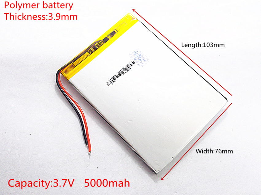 Free shipping 1PCS/Lot 3.7 V high capacity polymer lithium battery, 3976103, 5000 mah sun N70 7 inch tablet battery