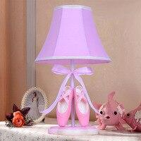 Led Desk Lamp Ballet Shoes Children's Table Lamp Creative Bedroom Bedside Desk Led Lamp110V 220V Lamp