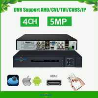 H.265 5 in 1 Security CCTV DVR 4CH AHD 8MP 5MP Hybrid Video Recorder for AHD TVI CVI Analog IP Camera Onvif AS-AVR6304H