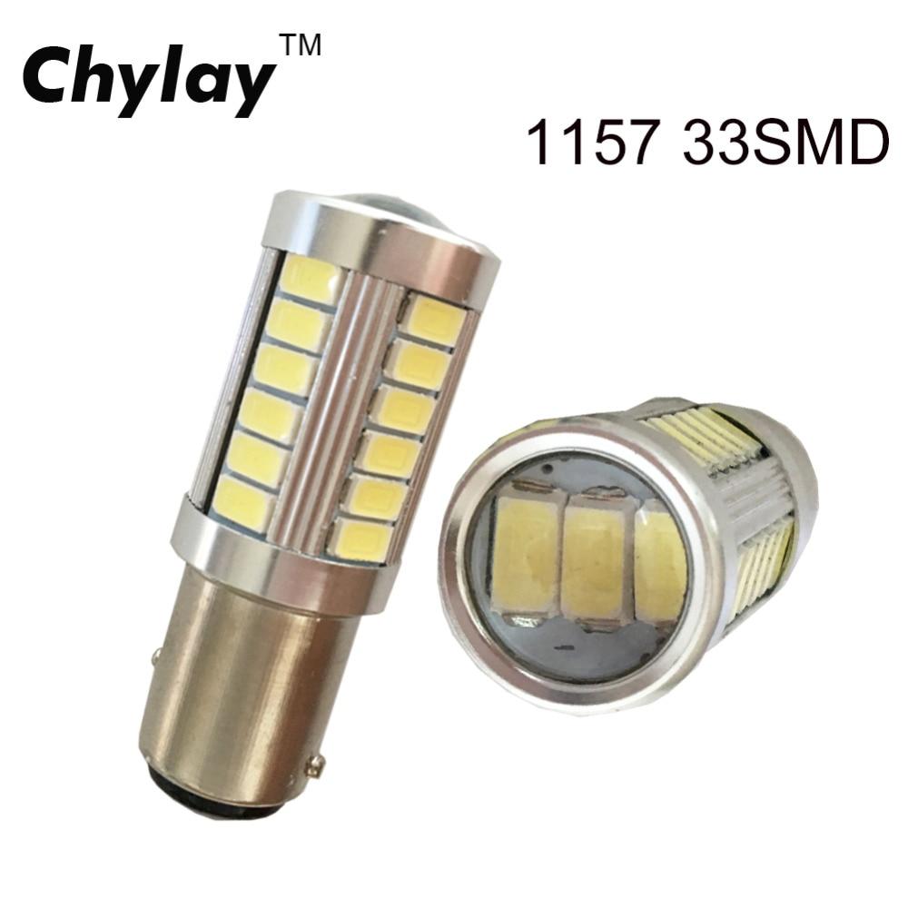 2ks BA15S 33 SMD 5630 1157 LED Vysoce výkonná brzdová světla Auto žárovky do auta Zpětné světlo Zdroj parkování