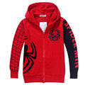 2-9 Age 2016 New Spring Autumn Children Jacket Coats Boy Spiderman Long Sleeve Hooded Zipper All-match Fashion Jackets Coat Boys