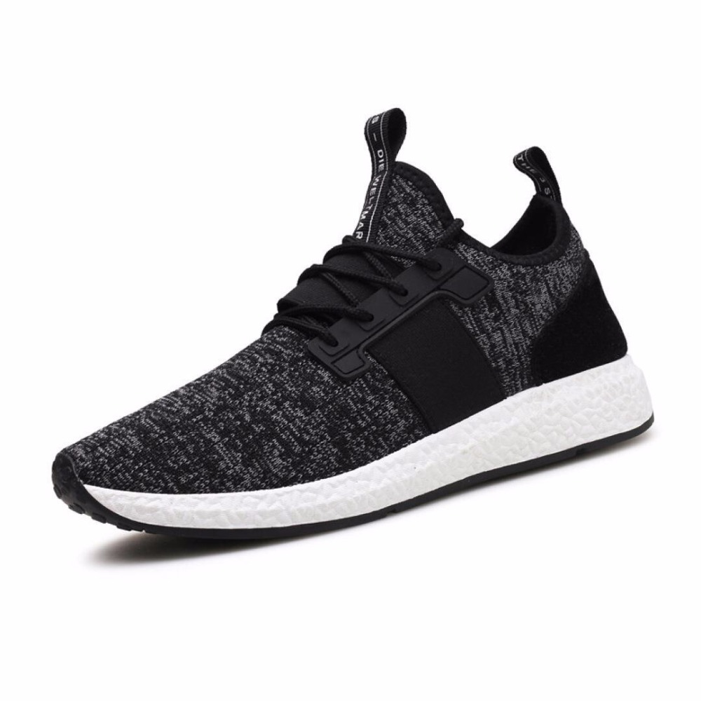 2018 New Arrive Mesh Running Shoes Male Breathable Slip-on Comfort Fly Weaving Soft Flats Walking Athletic Training tennis