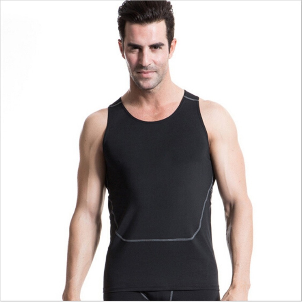 Mens Boys Armour Compression Base Layer Tops Sleeveless Gym Sports Vest Shirt