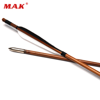 6/12/24 pcs Bamboo Arrows Length 32 Inches Spine 450 Outside Diameter 7.8 mm Turquoise Feather for Compound Bow Archery Hunting