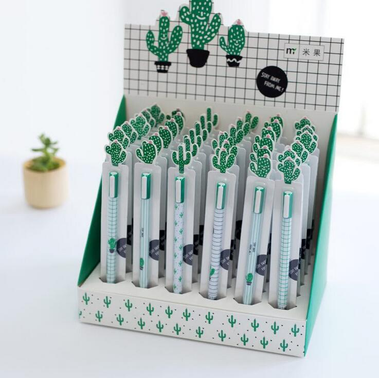 4 pcs/lot Creative Cactus Animal Pet Gel Pen Promotional Gift Stationery School & Office Supply 6 pcs lot wuli baby animal gel ink pen promotional gift stationery school