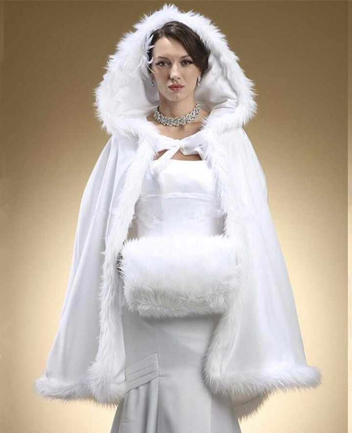 Elegant Wedding Bridal Jacket With Hat Women Winter Bridal Bolero Shrug 2019 New Arrival