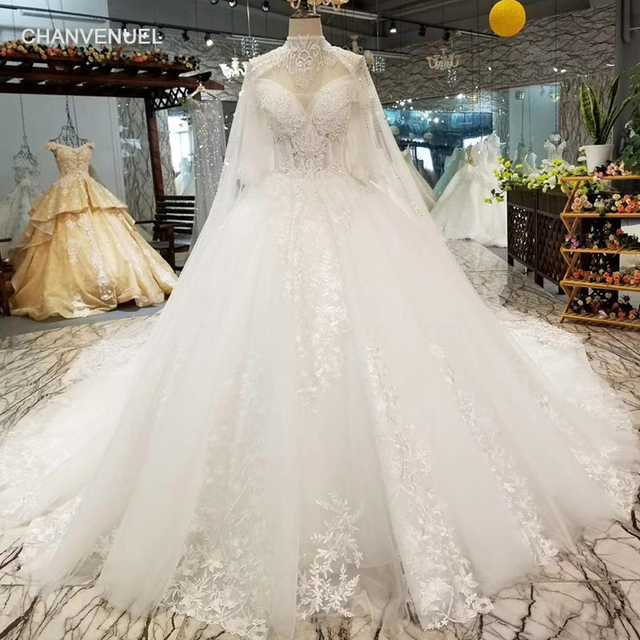 Ls85520 Necklace Decoration Off Shoulder Wedding Gown With Chain Sweetheart Bridal Dress Collars