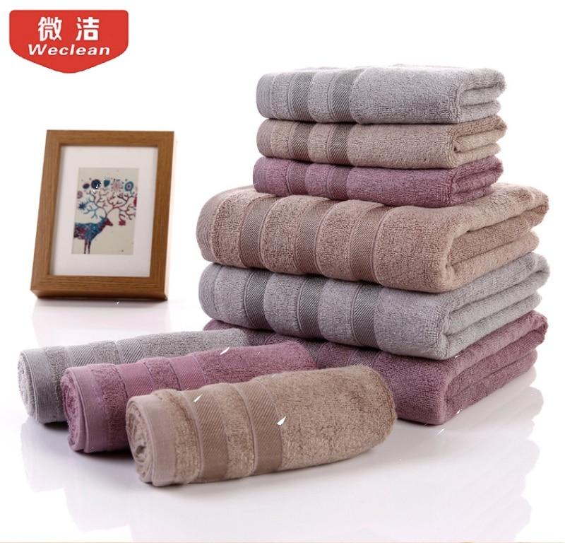 Bamboo Fiber Towel Mozhu Plain Water Bath Towel Cotton