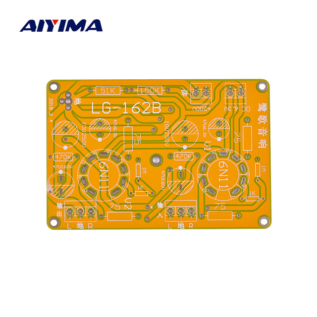 US $6 11 |Aiyima Vacuum Tube SRPP Headphone Amplifier Pre amplifier AMP  Board PCB for 6N11/6DJ8-in Headphone Amplifier from Consumer Electronics on