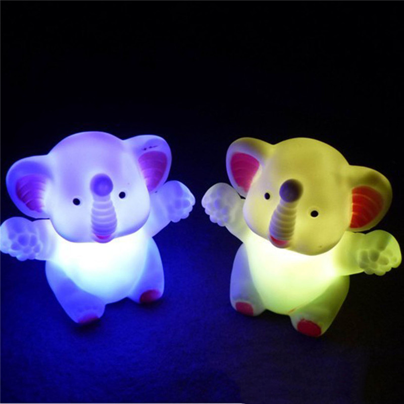 CHENGYILT Night lights led Hug Elephant night lamp colorful changing novelty small led nightlights for baby