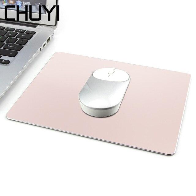 CHUYI אלומיניום מתכת Slim משחקי משטח עכבר מחשב מחשב מחשב נייד עמיד למים עלה זהב שטיחי עכבר עבור Apple MacBook קסם Xiaomi עכברים
