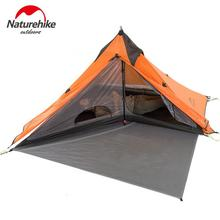 Naturehike 1 Person Camping Tent Ultralight 20D Silicon Double Layer Waterproof 3 Season Outdoor Tourist Rodless Tent NH17T030-L naturehike outdoor travel camping tent ultralight 1 2 person four season tent double layer waterproof shelter camping equipment