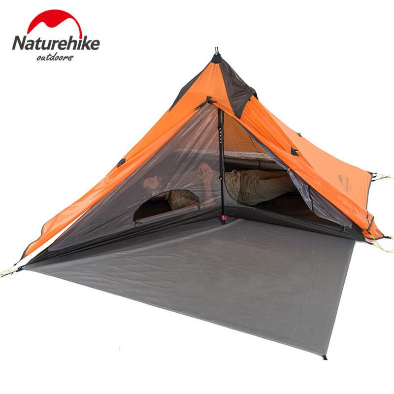 Naturehike Camping 1 Person Tent Waterproof 20D Silicon 4 Season Double Layer Outdoor Tourist Ultralight Tent For Fishing Hiking yingtouman outdoor 2 person waterproof double layer tent fiberglass rod portable ultralight camping hikingtents