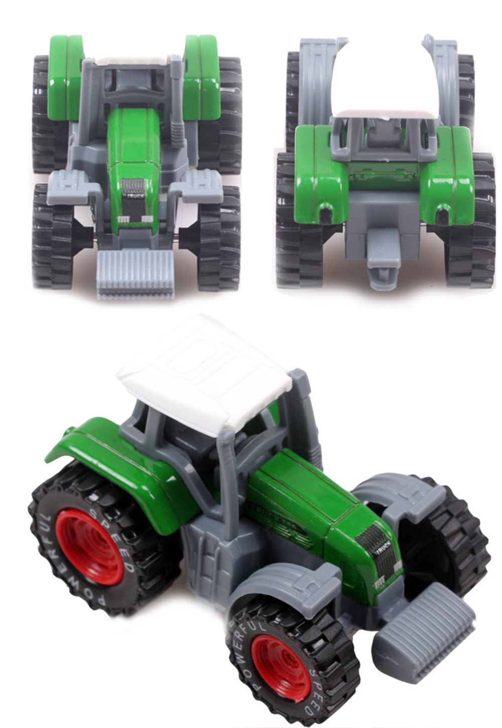 1:64 3 color 3pcs/lot farmer tractor model metal plastic toy car gift for child adult with tracking information