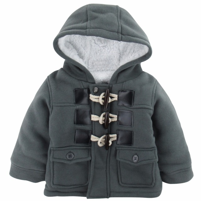 12dcef7e12fa Baby Boys Fleece Coat Infant Winter Hooded Jacket For Boy Cotton ...