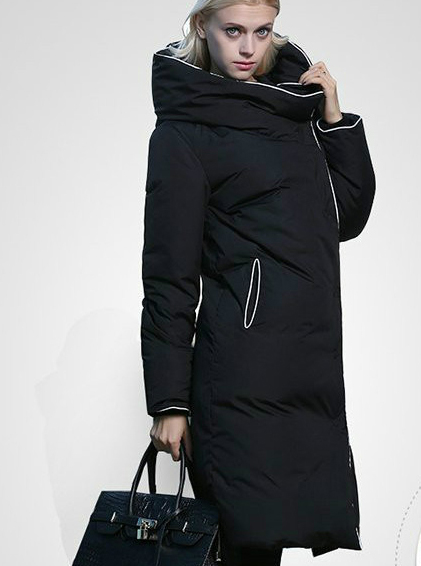 New Arrival 2018 Winter Europe Fashion Women's Duck   Down     Coat   & Jacket Maxi Ultra Long Parka Quilt Black White Plus Big Size XL