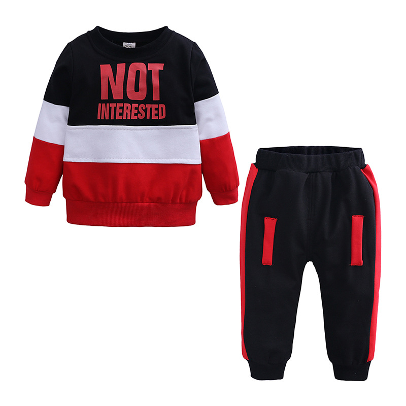 2019 Baby Boy Clothes Winter Boy Clothing Set Long Sleeves Leisure Boys T Shirt+ Pant 2pcs Kids Girl Clothes Set