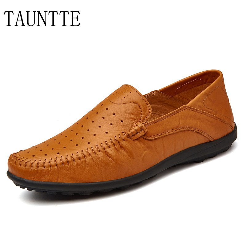 Tauntte 2017 New Arrival Genuine Leather Men Shoes Breathable And Anti-Odor Cow Leather Loafers For Free Shipping new arrival high genuine leather comfortable casual shoes men cow suede loafers shoes soft breathable autumn and winter warm fur
