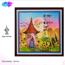 fairy clear stamps house transparent rubber craft for scrapbooking paper card making
