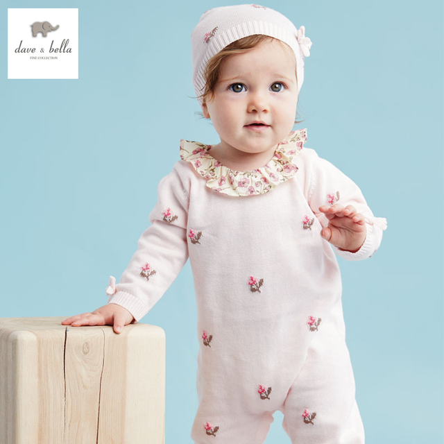 71d251260540 DB3130 dave bella spring autumn baby girls jacquard rompers infant ...