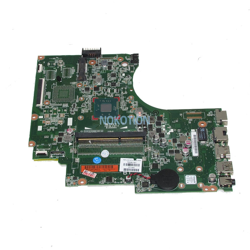 NOKOTION 753099-501 753099-001 Laptop Motherboard For HP 15-D Main Board N3520 CPU works 762526 501 main board for hp pavilion 15 p day22amb6e0 laptop motherboard ddr3 am8 cpu