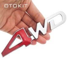 Adesivo emblema 3d para carro, etiqueta do carro traseiro 4x4 rc, etiqueta 3d, cromada, emblema, decalque, automóvel decoração estilo 4wd vermelho para suv tronco
