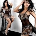 Sexy de encaje mujeres la ropa interior atractiva de la tentación al por mayor modelos de explosión en Europa y América transparente traje de pijama