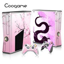 5 Styles Cadeau à Filles Vinly Decal Pour Microsoft Xbox 360 Slim Console et 2 Couleur Blocs De Autocollants Pour X box 360 mince jeux