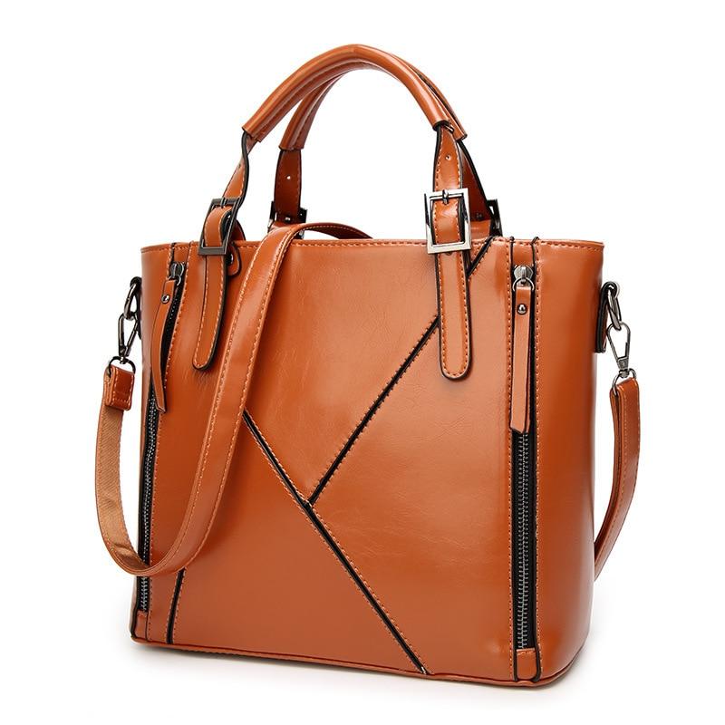 ФОТО 2017 European Style Women Bag Vintage Big Bags Fashion Handbags Women's Bags Totes Patchwork Pu Leather Shoulder bag