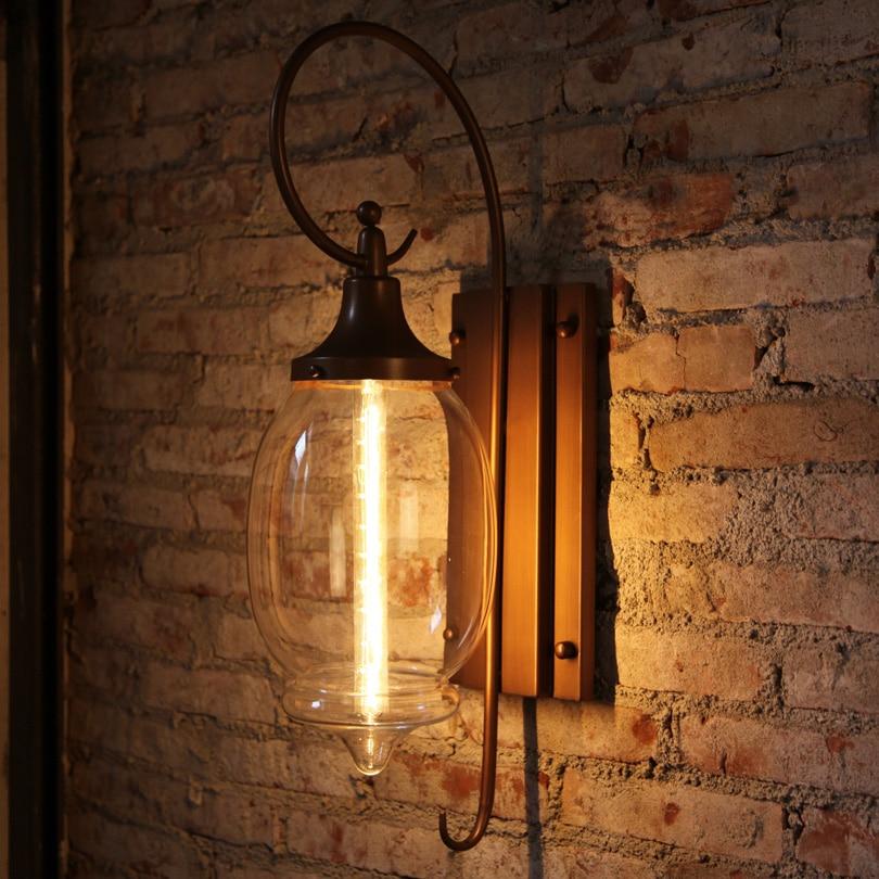 American Vintage Утюг индустриальный лофт настенные лампы внутреннего освещения прикроватные лампы бра для дома 110 В/220 В E27 EDISON ЛАМПЫ