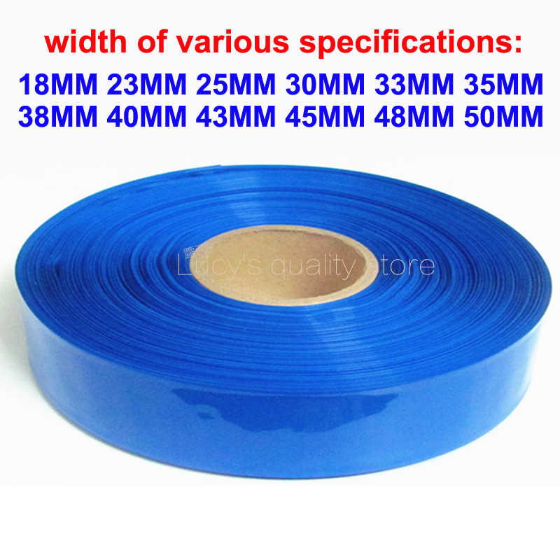 1 m PVC krimpkous krimpkous mouw 18650 lithium accu vlamvertragende isolerende mouw verpakking film