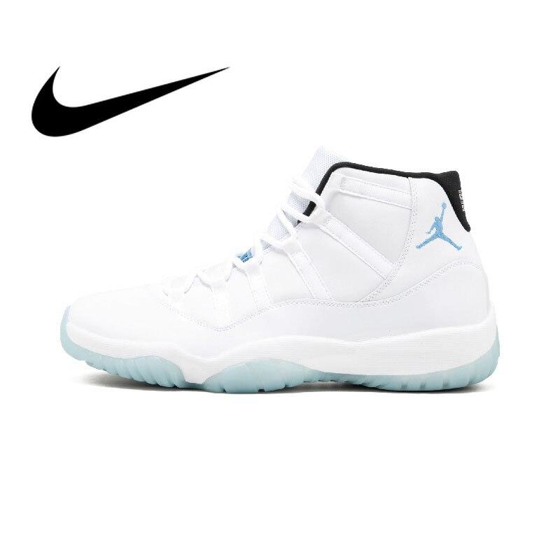 Original auténtico NIKE Air Jordan 11 Retro leyenda azul AJ11 zapatos de baloncesto Mens zapatillas de deporte al aire libre Atlético 2018 nuevo