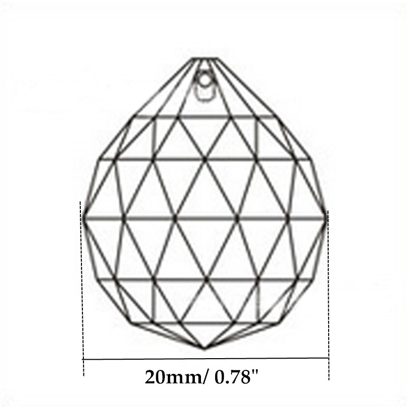 hierkyst 40 mm vermelho bolas suncatcher cristal 01